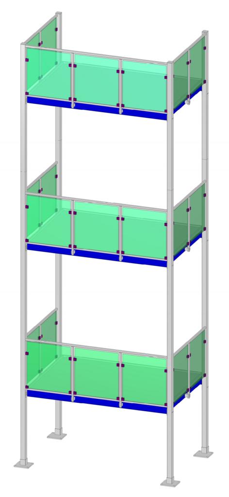 3D Model Gesamtzeichnung - Metallbau Gerüst